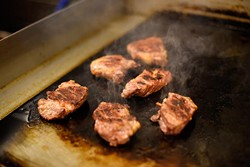 Steaks at Fuze, Monday, April 4, 2016. - GARETT FISBECK