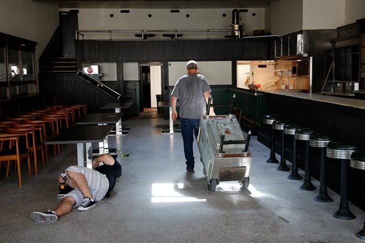 Renovations at VZD's in Oklahoma City, Wednesday, June 24, 2015. - GARETT FISBECK