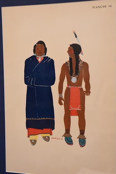 """Man in Blanket"" by orginal Kiowa Six artist James Auchiah at Jacobson House Native Art Center in Norman. (Mark Hancock)"