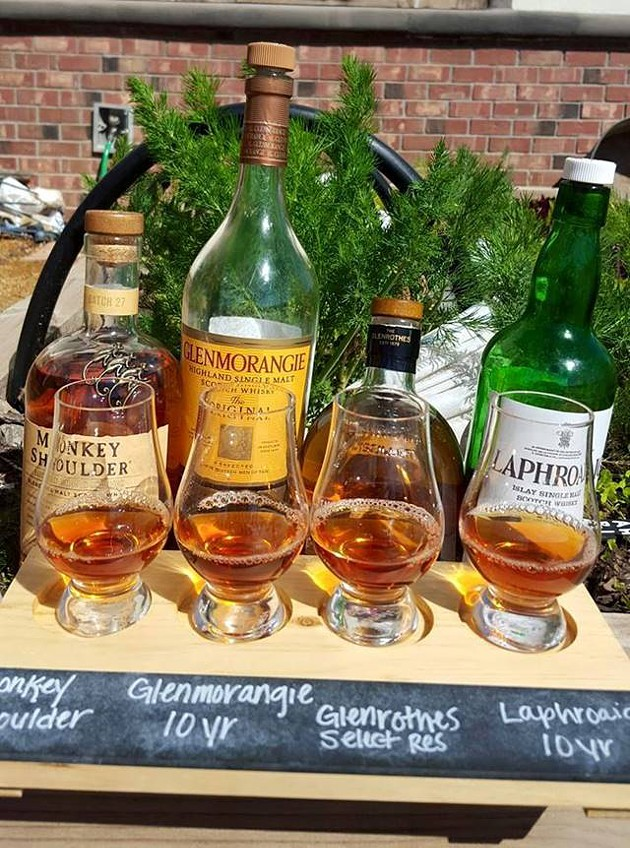 A selection of whiskeys for a tasting class at Whiskey Cake Kitchen & Bar | Photo Whiskey Cake Kitchen & Bar / provided
