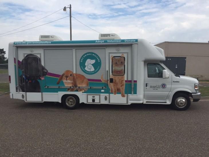 The City of Oklahoma City's Animal Welfare Waggin' Wagon   Photo provided