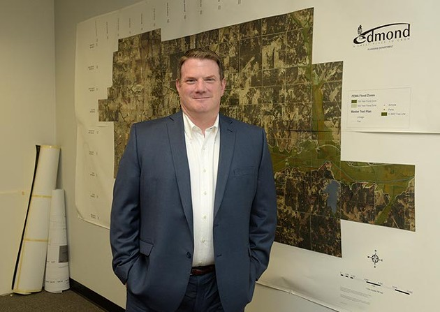 Randy Entz poses for a photo at the City of Edmond Planning Department, Tuesday, July 18, 2017. - GARETT FISBECK