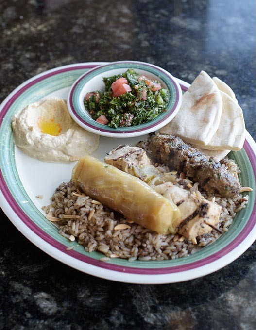 Sampler plate at Nunu's Mediterranean Cafe Thursday, March 2, 2017. - GARETT FISBECK
