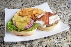 Have It Your Way , Dude (w/ bacon and fried egg) at Gigglez Bar & Grill, Monday, Sept. 19, 2016. - GARETT FISBECK