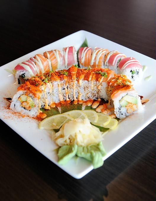 The Crazy Cajun and the Wasabi Roll at Park Harvey Sushi & Sports Lounge in Oklahoma City, Friday, Feb. 12, 2016. - GARETT FISBECK