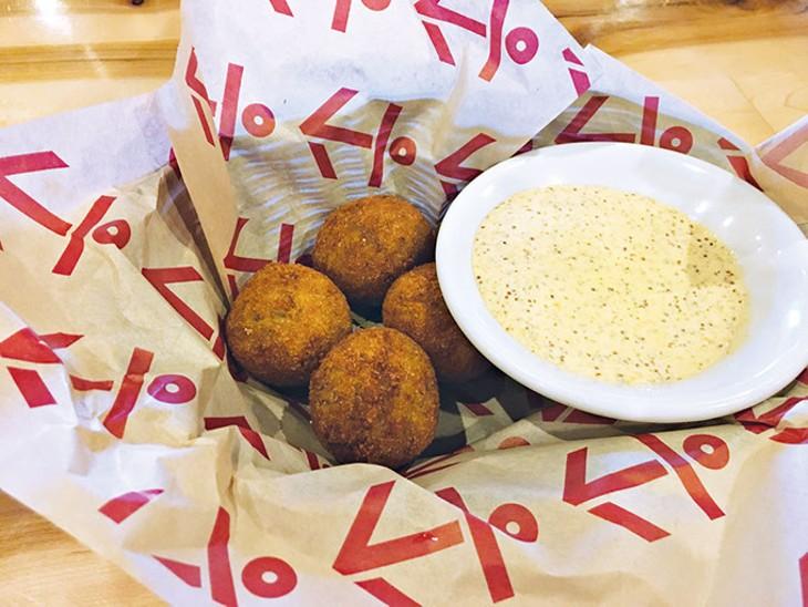 Boudin balls at Brent's Cajun Seafood & Oyster Bar | Photo Jacob Threadgill