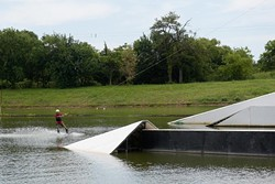 Cable park at Lost Lakes Amphitheater and Water Park in Oklahoma City, Thursday, Aug. 4, 2016. - GARETT FISBECK