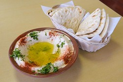 Hummus at Jerusalem Mediterranean Cuisine in Edmond, Thursday, Nov. 17, 2016. - GARETT FISBECK