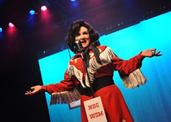 Julie Johnson portrays crossover singer Patsy Cline in CityRep's latest production. (Photo Oklahoma City Repertory Theatre / provided)