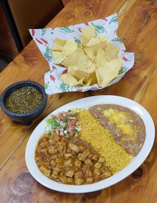 Guisada de peurco at Abel's Mexican Restaurant Thursday, Feb. 16, 2017. - GARETT FISBECK