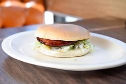 Fried ham on bun at Chuck House in Oklahoma City, Tuesday, June 7, 2016. - GARETT FISBECK