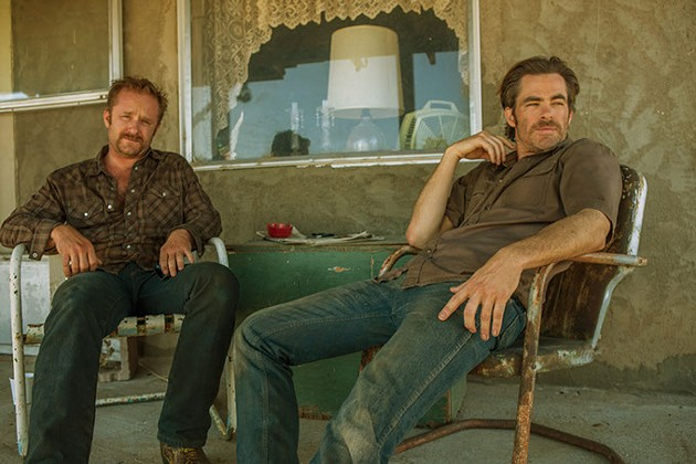 (Left to right) Ben Foster and Chris Pine in HELL OR HIGH WATER. [Via MerlinFTP Drop] - CBS FILMS