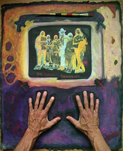 """""""The People Themselves,"""" an acrylic painting on handmade paper, by Richard Ray Whitman 