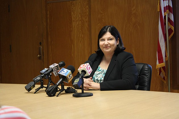 Associate Superintendent Aurora Lora proposes creating a district equity fund for keeping specific programs in schools. (Laura Eastes)