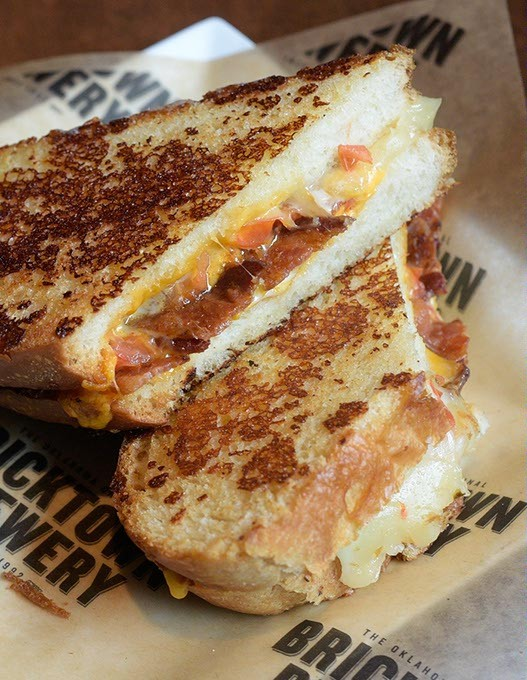 Extreme Bacon & Tomato Grilled Cheese Sandwich with Tomato Soup at Bricktown Brewery, Wednesday, Aug. 30, 2017. - GARETT FISBECK