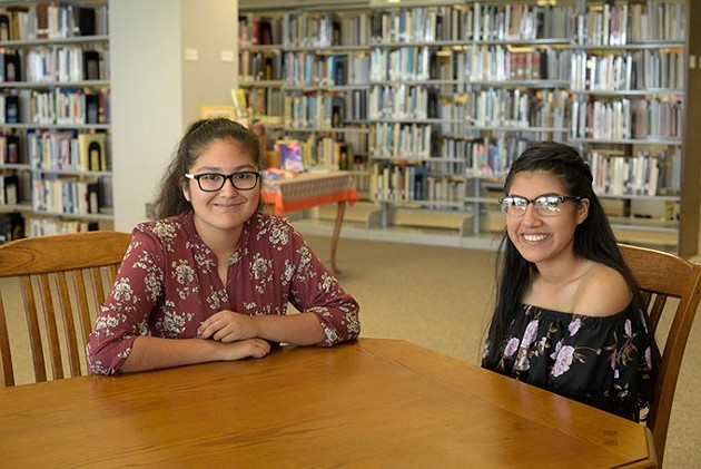 Alexandra Molina and Vanessa Ramos talk about their experiences with EXCELerate Dove at OSU-OKC, Tuesday, June 13, 2017. - GARETT FISBECK