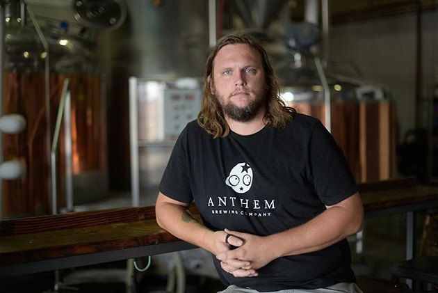 Patrick Lively is president and head brewer at Anthem Brewing Company.