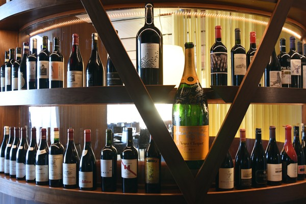 A new wine display, an idea brought to the table by new Restaurant Director Kirt Fleischfresser, at Vast.  mh