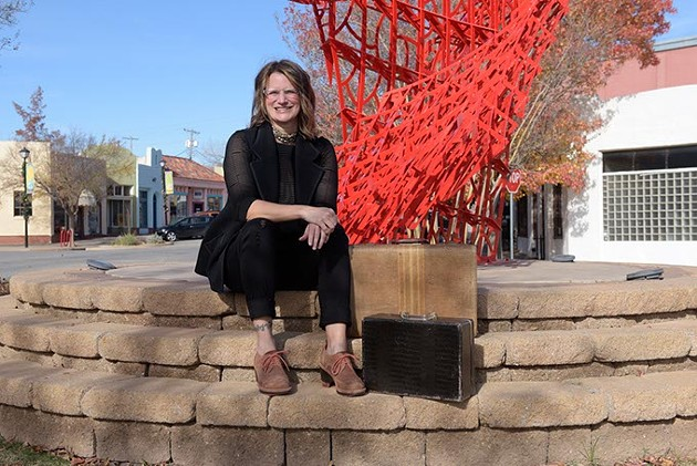 Lisa Jean Allswede poses for a photo in the Paseo District in Oklahoma City, Thursday, Dec. 1, 2016. - GARETT FISBECK