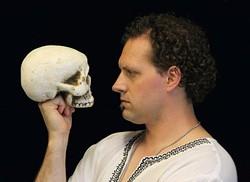 Luke Eddy stars in Oklahoma Shakespeare in the Park's season-closing production of Hamlet. (Oklahoma Shakespeare in the Park / provided)