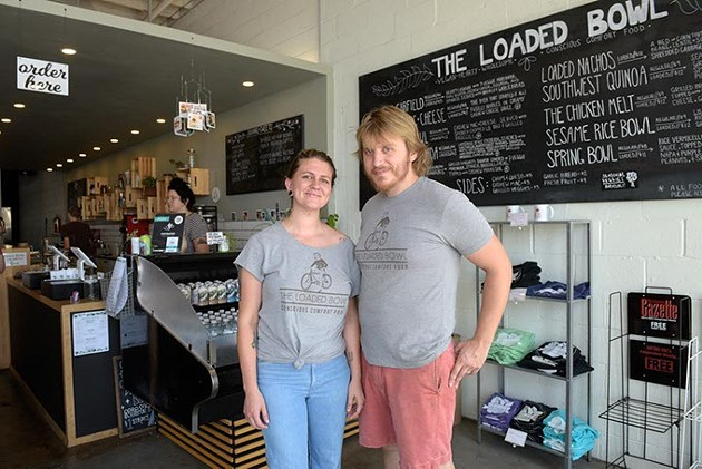 The Loaded Bowl owners Tevin and Jon Grupe opened their permanent location in the OKC Farmers Market District.   Photo Garett Fisbeck.