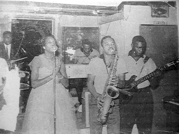 Miss Blues performs with her band the Rockin' Aces in the 1950s (Oklahoma Historical Society / provided)