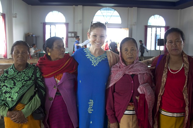 President and founder Leia Johnson in Nepal