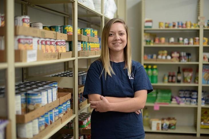 Program director Sarah Green said Love Link Ministries de-stigmatizes negative associations with food pantries. (Garett Fisbeck)