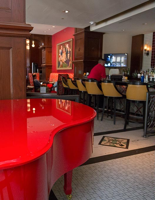 Red Piano Lounge offers piano music and drinks on Monday, June 5, 2016 in Oklahoma City. - EMMY VERDIN