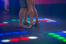 A couple dances to 90's music at the Flash Back Retro Pub 90's Night on Saturday, July 30, 2016 in Oklahoma City. - EMMY VERDIN