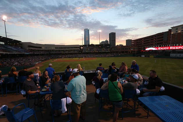"""""""Without [the ballpark], I think Bricktown wouldn't be the way it is today without the growth, development and everything that's here,"""" said Bricktown district manager Mallory O'Neill. (Oklahoma City Dodgers / provided)"""