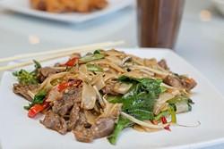 Thai House serves Kee Mao Noodle-Thai drunken noodle on Monday, June 27, 2016 in Oklahoma City. - EMMY VERDIN