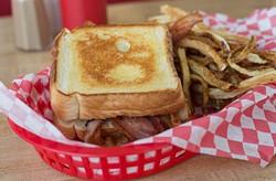 Dan's Ol' Time Diner decorates Bacon Sandwich in Oklahoma City, Tuesday, June 14, 2016. - EMMY VERDIN