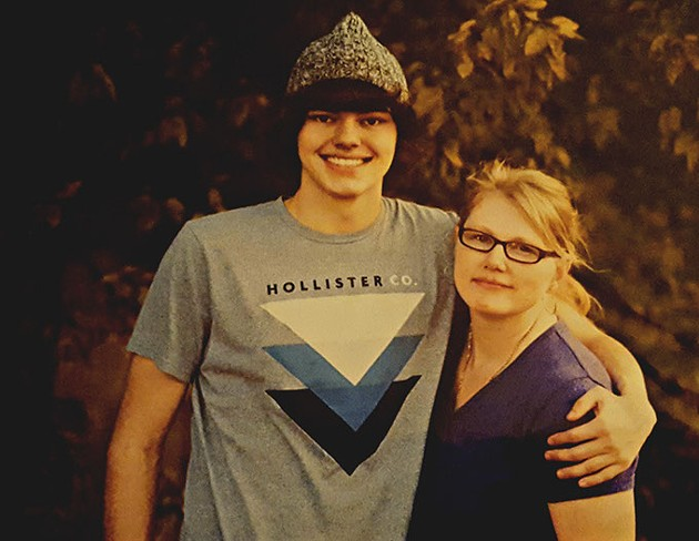 Gwen Evans right lost her son Nathan to suicide in 2015.   Photo provided