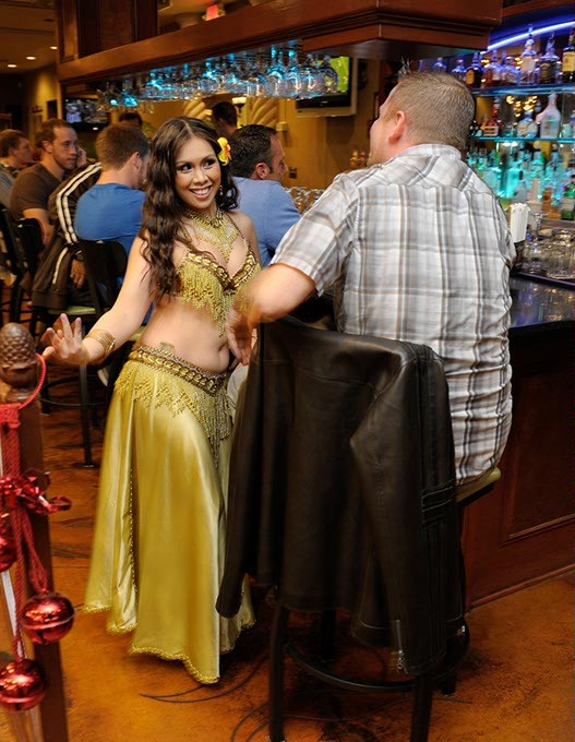 Shira Amar dances for Brian Oakes at Zorba's in Oklahoma City, Nov. 22, 2014. - GARETT FISBECK