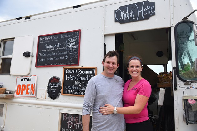 Kenny and Maggie Ketron with their food truck, PLP-Parking Lot Party. - MARK HANCOCK