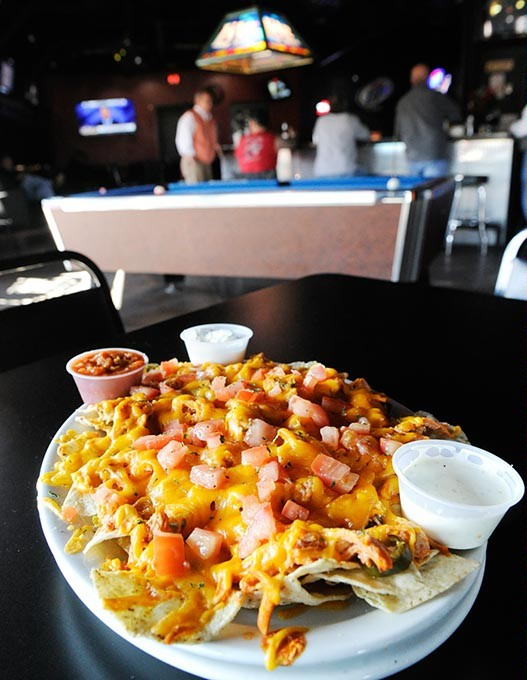 Buffalo Chicken Nachos at Lumpy's Sports Grill in Oklahoma City, Friday, Feb. 12, 2016. - GARETT FISBECK