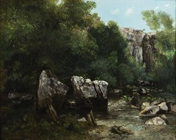 "Gustave Courbet's ""Gorge in a Forest (The Black Well),"" ca. 1865 (Photo Oklahoma City Museum of Art / Gift of Mr. and Mrs. Sylvan Goldman)"