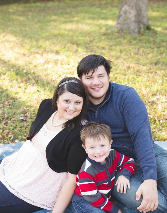 Foster mom Danielle James with her husband Joshua James and stepson Wyatt. (Photo Erika Featherstone / Featherstone Photography / provided)