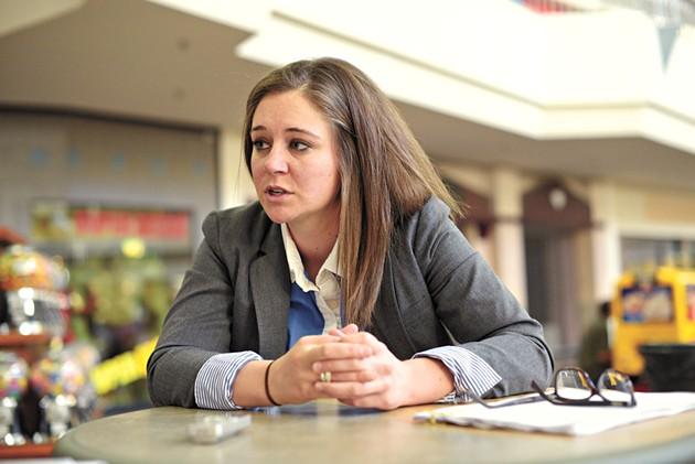 Meg Wheeler, KIPP south administrator, talks about KIPP expanding to South Oklahoma City at Plaza Mayor, Wednesday, Feb. 22, 2017. - GARETT FISBECK