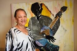 Anita Arnold poses for a photo at Black Liberated Arts Center, Friday, May 13, 2016. - GARETT FISBECK