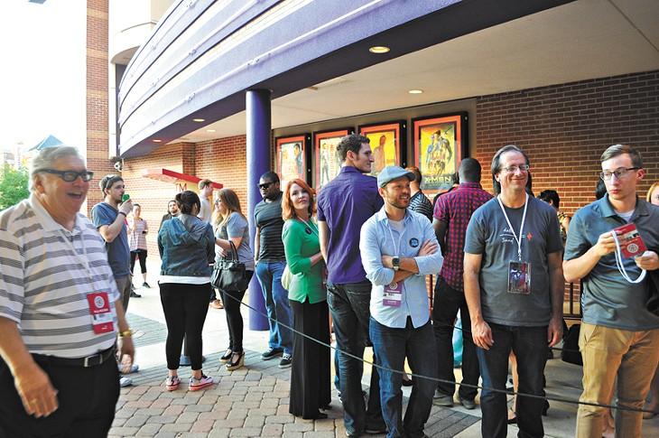 Crowd awaiting the showing of Frank at deadCENTER film festival in Oklahoma City, Okla. Photo by Lauren Hamilton - LAUREN HAMILTON
