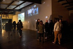 New Media projections during alt shift dance at Resonator in Norman, Friday, Nov. 11, 2016. - GARETT FISBECK