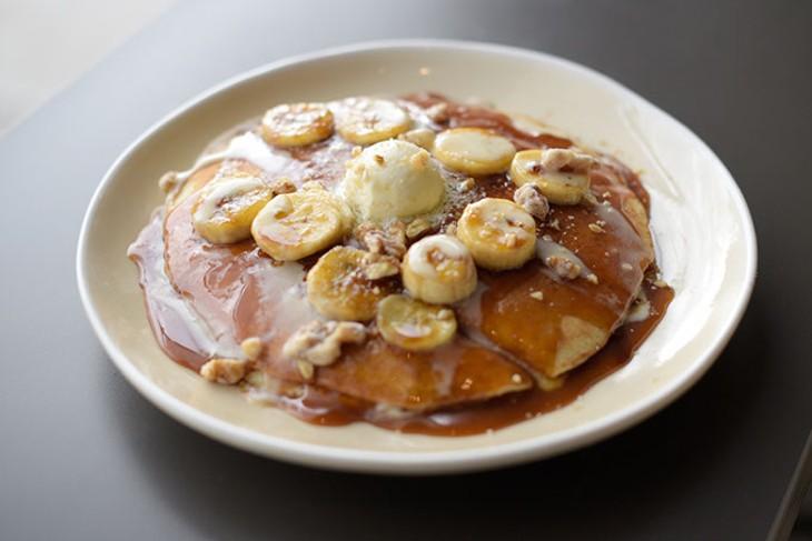 Bananas Foster pancakes at Hatch (Garett Fisbeck / file)