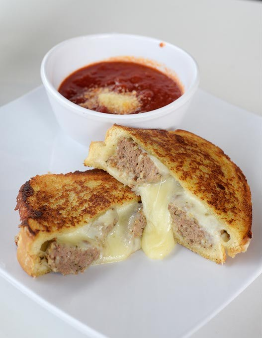Meatball grilled cheese at Caeli's Sweets, Eats & Deli, Tuesday, Aug. 15, 2017. - GARETT FISBECK