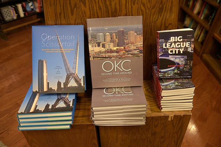 Oklahoma history books at Full Circle, Thursday, Aug. 25, 2016. - GARETT FISBECK