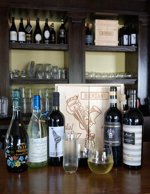 Selection of wines at Patrono, Wednesday, Oct. 5, 2016. - GARETT FISBECK