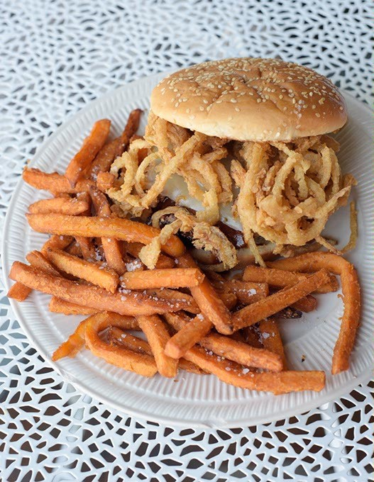 Barbeque bacon burger at Stacy's Place in Guthrie, Tuesday, May 9, 2017. - GARETT FISBECK