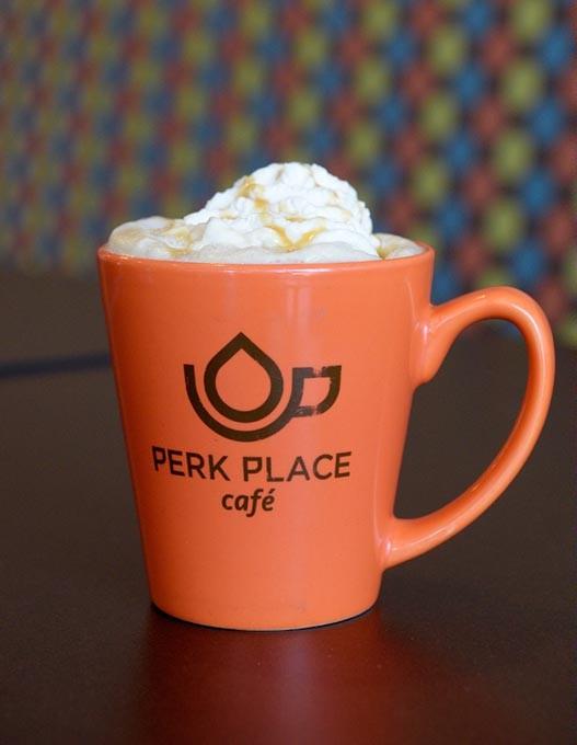 Latte at Perk Place Cafe in Edmond, Friday, Sept. 9, 2016. - GARETT FISBECK