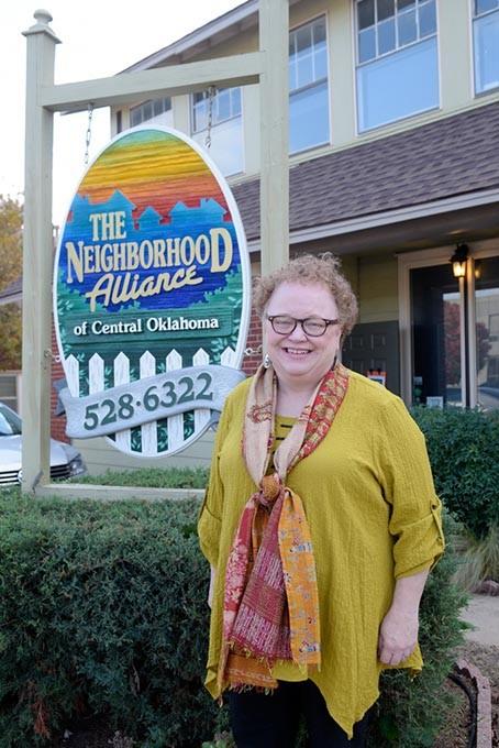 Georgie Rasco, executive director of The Neighborhood Alliance of Central Oklahoma, poses for a photo, Tuesday, Nov. 22, 2016. - GARETT FISBECK